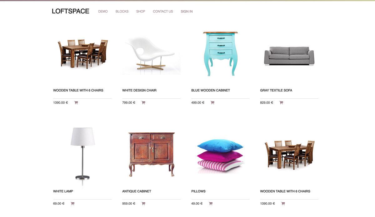 e commerce loftspace