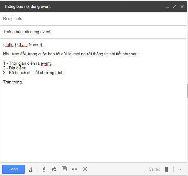 Cách trộn thư trong Gmail