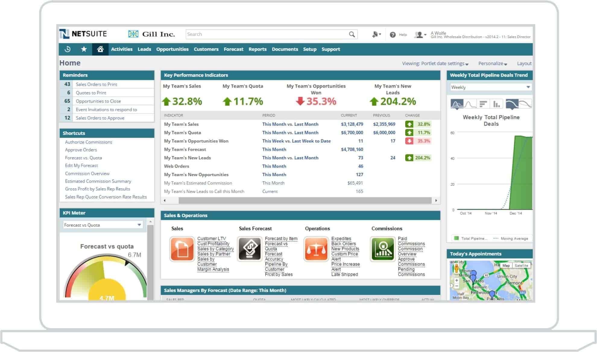 phần mềm chăm sóc khách hàng Netsuite CRM