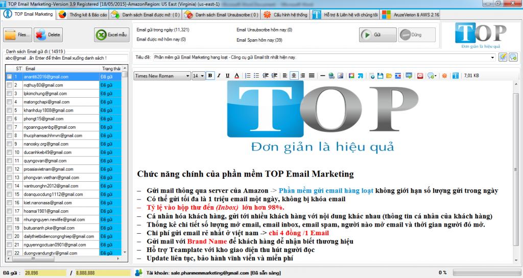 phần mềm gửi email marketing miễn phí