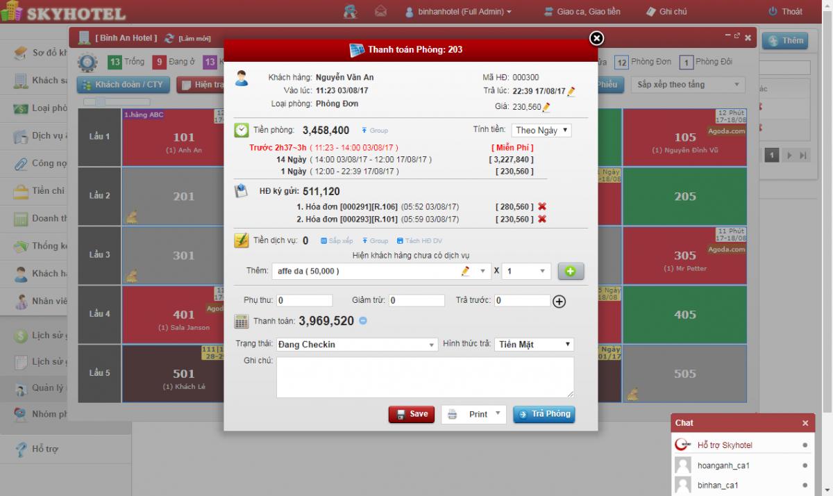 phần mềm quản lý khách sạn