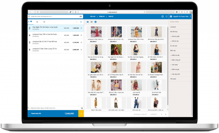 Phần mềm quản lý bán hàng Suno
