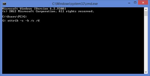 Cách sửa lỗi USB bị nhiễm virus tự ẩn dữ liệu