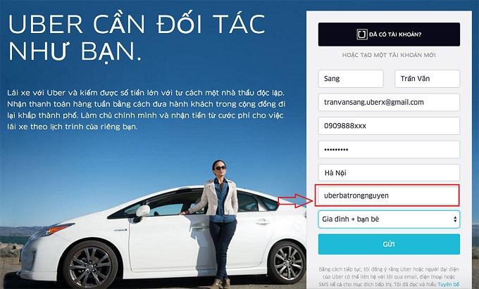 cách đăng ký lái xe uber