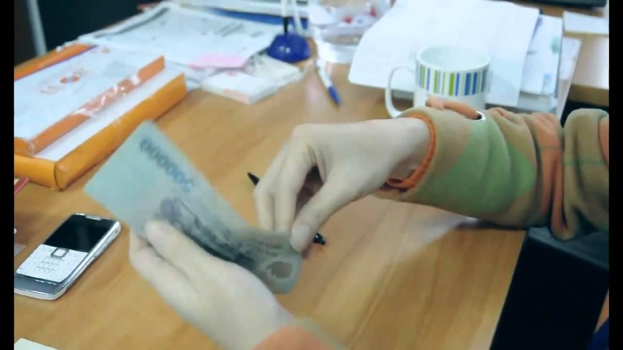 cách tính tiền của nhân viên ngân hàng