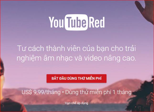 tư cách thành viên trả phí youtube