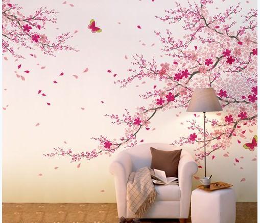 Những mẫu giấy dán tường hoa đào đẹp