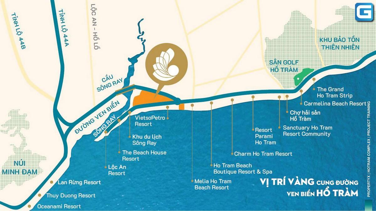 Vị trí dự án Hồ Tràm Complex ở đâu ?