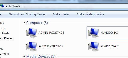 Hướng dẫn truyền dữ liệu giữa 2 máy tính qua WiFi Win 10 7