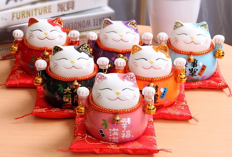 Mèo Thần Tài May Mắn Size 9cm - Meo Shop