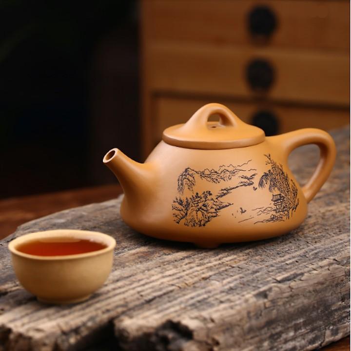 ẤM TỬ SA THẠCH BIỀU THIỀN NGỘ HỒ - ấm trà tử sa Nghi Hưng | Shopee Việt Nam