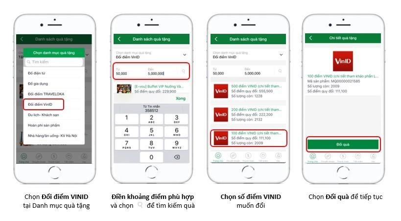 Hướng dẫn đổi điểm Loyalty sang điểm VinID trên app
