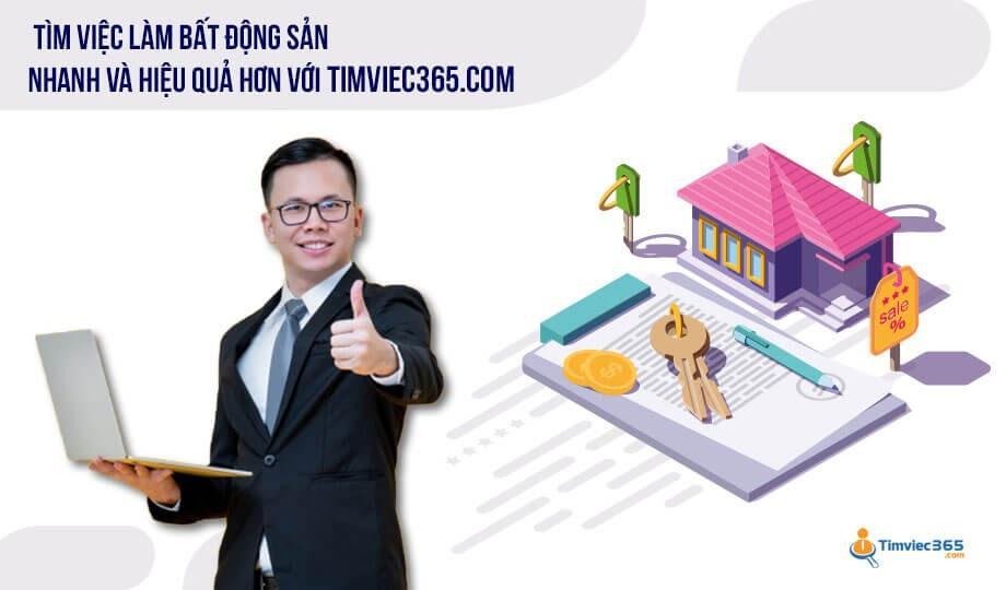Tìm việc làm kinh doanh bất động sản hiệu quả với timviec365.com