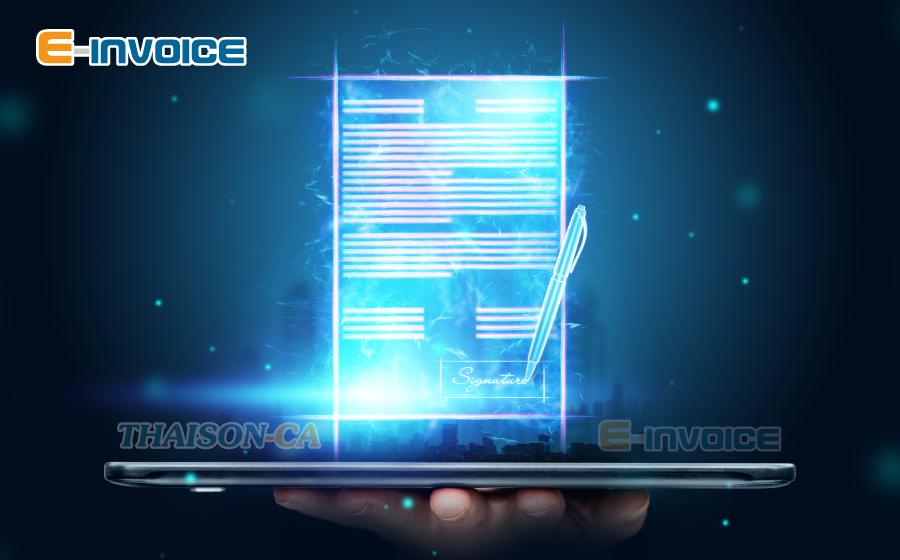 Sử dụng chữ ký số trên phần mềm hóa đơn điện tử E-invoice.