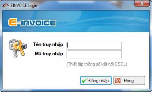 Đăng nhập phần mềm hóa đơn điện tử.