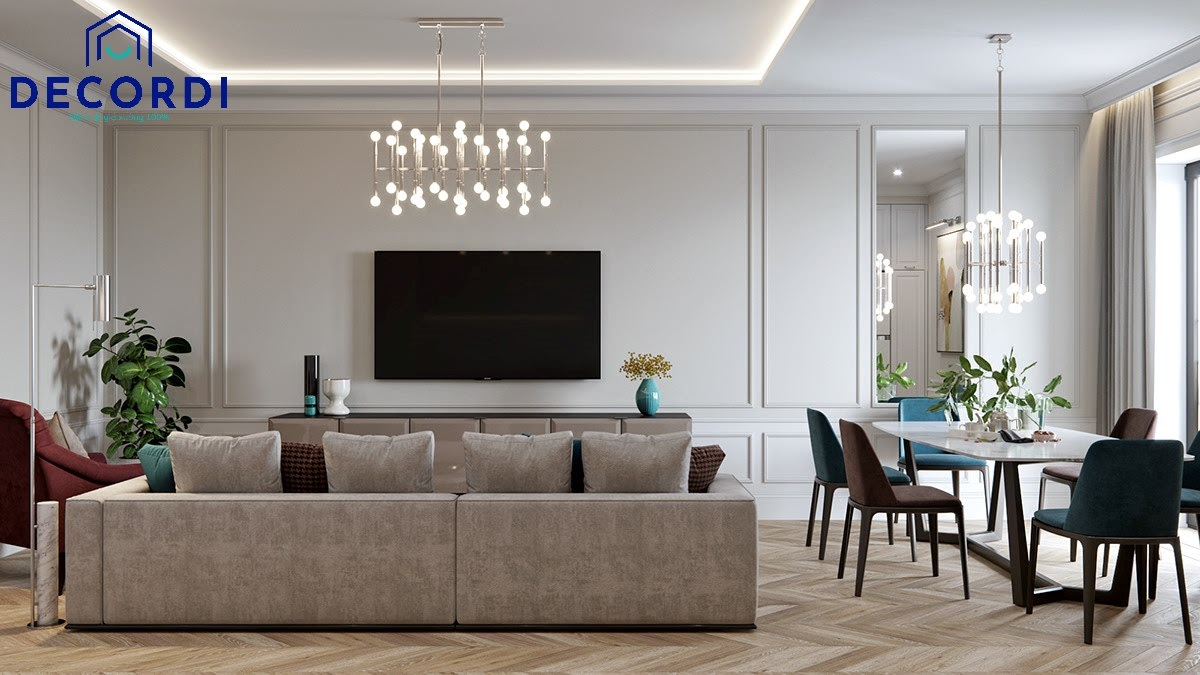 Không gian phòng khách tận dụng ánh sáng tự nhiên