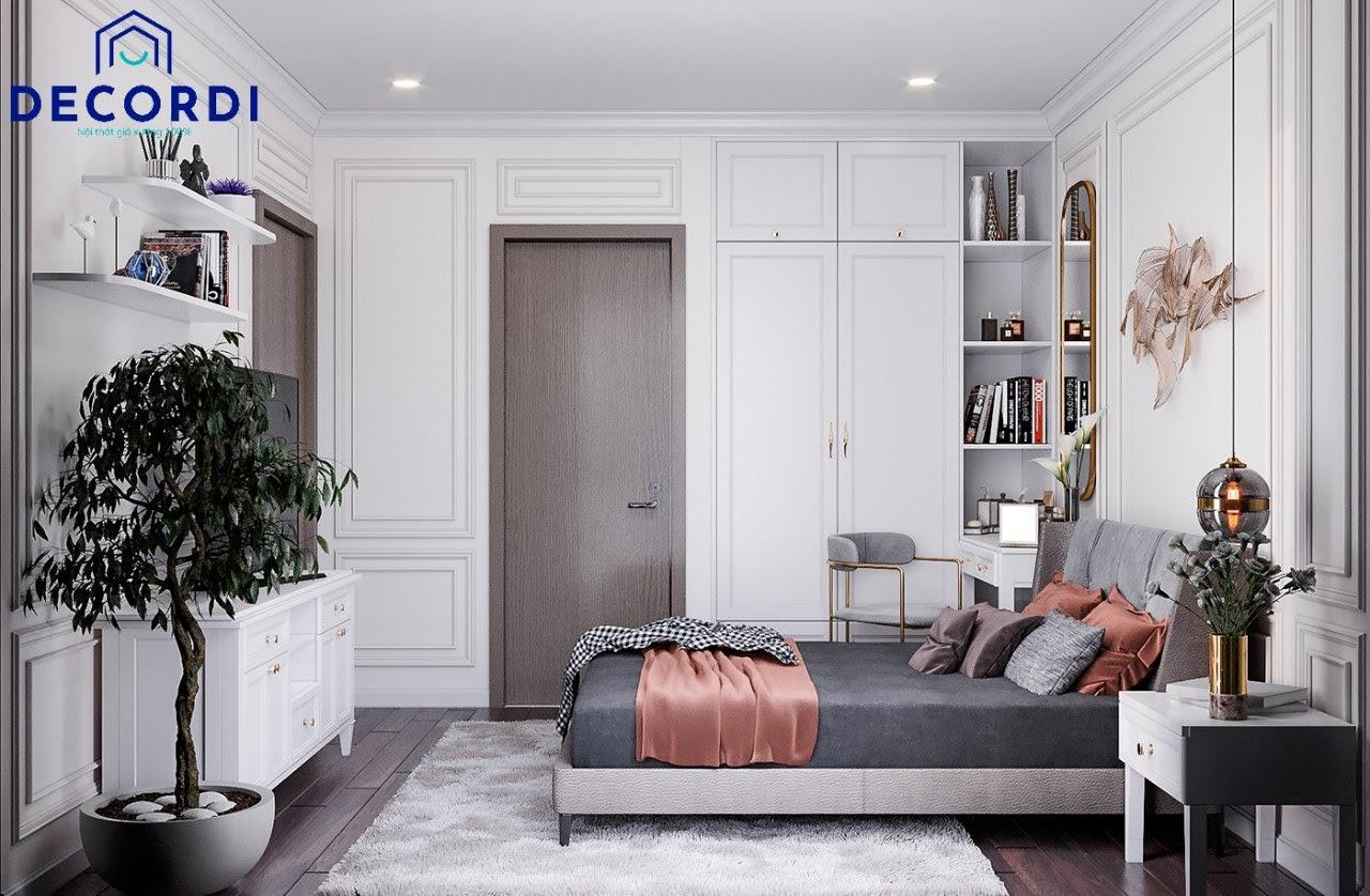 Tổng quan nội thất chung cư tân cổ điển dành riêng cho phòng ngủ