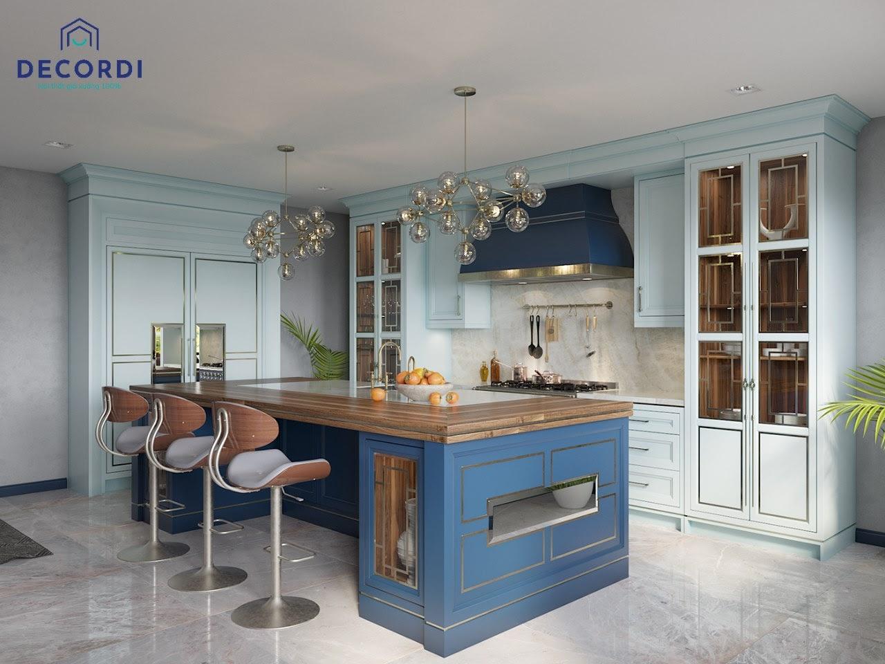 Bàn đảo bếp phân chia không gian linh hoạt dễ dàng sinh hoạt